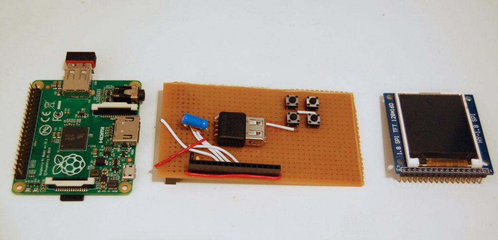 Alarm clock prototype parts